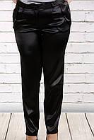 Черные брюки из плотного атласа | b036-1