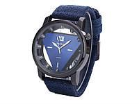 Стильные кварцевые часы McyKcy  Синий
