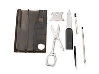 Многофункциональный  набор инструментов для кемпинга Switzerland в пластиковом кейсе 8 в 1