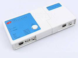 Тестер сети RJ45, RJ11, USB, BNC, Firewire кабеля