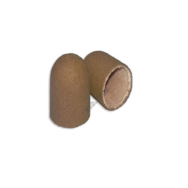 Колпачок песочный коричневый мелкий 7 мм.