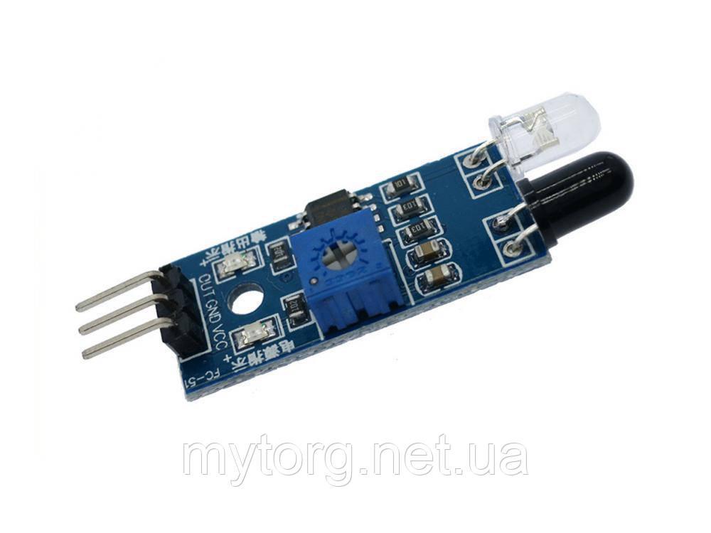 Оптический ИК датчик обхода препятствий Arduino
