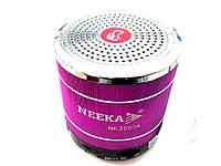 Портативная колонка Fm-радио  NEEKA 2080A  Фиолетовый