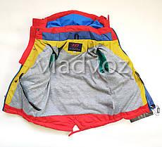 Детская демисезонная куртка на мальчика красная 2-3 года, фото 3