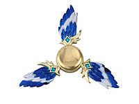 Металлический спиннер Крыло  Золотой, синий