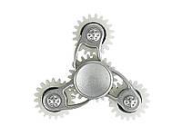 Спиннер изметалла скрутыми вставками-утяжелителям  Серебро с белым