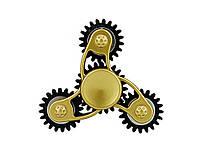 Спиннер изметалла скрутыми вставками-утяжелителям  Золото с черным