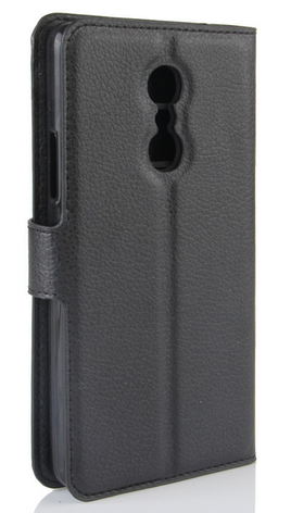 Кожаный чехол-книжка для Lenovo k6 note / k6 plus черный, фото 2