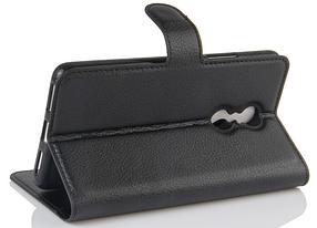Кожаный чехол-книжка для Lenovo k6 note / k6 plus черный, фото 3
