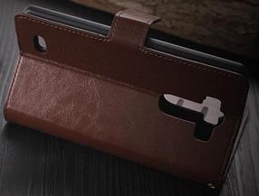 Кожаный чехол книжка для LG G3 mini белый, фото 3