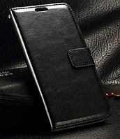 Кожаный чехол-книжка для Samsung Galaxy J1 2016 J120 черный
