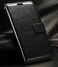 Кожаный чехол-книжка для Samsung galaxy j3 2017 j330 черный