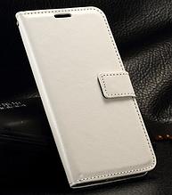 Кожаный чехол-книжка для Samsung galaxy j3 2017 j330 белый