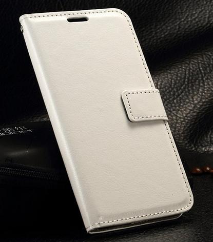 Кожаный чехол-книжка для Samsung galaxy j3 2017 j330 белый, фото 2