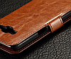Кожаный чехол-книжка для Samsung Galaxy J5 2016 J510 J510F J510G J510Y J510M красный, фото 3