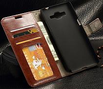 Кожаный чехол-книжка для Samsung Galaxy J5 2016 J510 J510F J510G J510Y J510M белый, фото 2