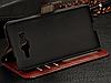 Кожаный чехол-книжка для Samsung galaxy j2 (2016) j210 коричневый, фото 4