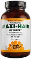 Витамины для женщин, Country Life, Maxi Hair, 90 tab