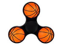 Спиннер basketball  Черный с оранжевым