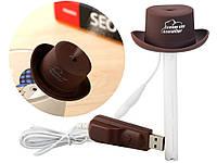 Мини увлажнитель воздуха USB в виде Ковбойской шляпы  Коричневый