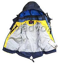 Детская демисезонная куртка на мальчика синяя 3-4 года, фото 3