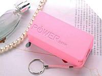 Кейс Power Bank для двух аккумуляторов 18650 5000mAh 5V USB  Розовый