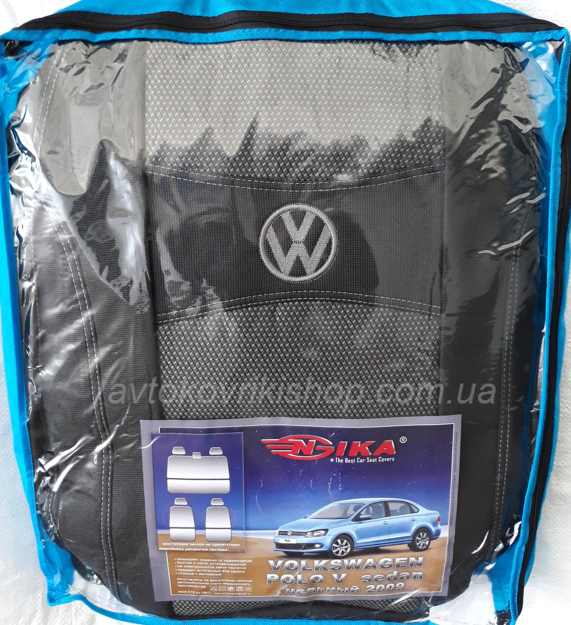Авточехлы Volkswagen Polo V 2009- (цельная) Nika