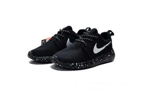 Детские кроссовки Nike Roshe Run Black Solo