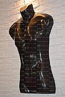 Манекен мужской,черный. Мужской силует, фото 1