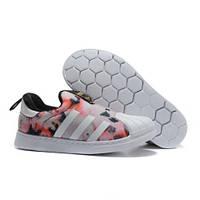 Детские кроссовки Adidas Superstar Kids Pink White, фото 1
