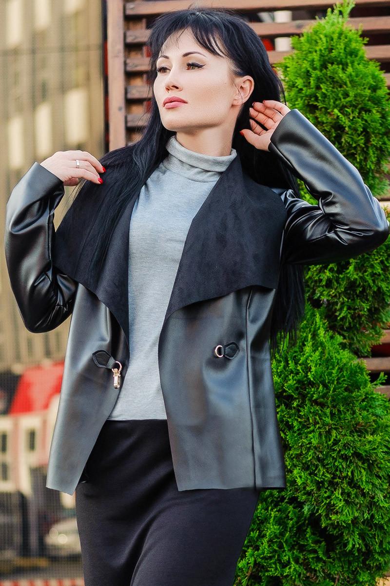 Женские куртки из экокожи *ЧОППЕР* оптом