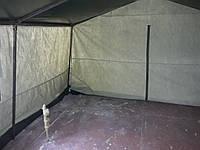 Палатка полевая 3,5х3м брезентовая с непромокаемой крышейре