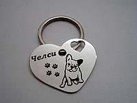 Жетон Адресник Медальон для собак и кошек с лазерной гравировкой
