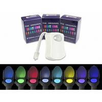 Подсветка для унитаза led light bowl 8 цветов с датчиком, фото 2