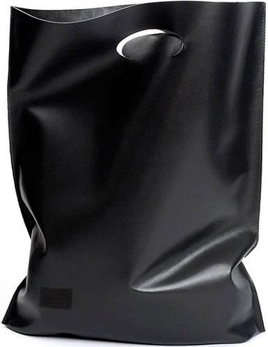 Повседневная, черная, женская кожаная сумка SHOPPER POOLPARTY арт.: shopper-black