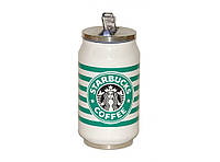 Кружка-банка Starbucks с поилкой-трубочкой 300мл. T73