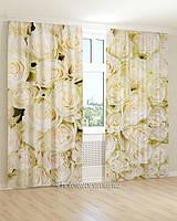 Фотошторы белоснежные розы