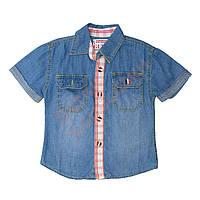 """Рубашка с коротким рукавом для мальчика """"1981"""" """"Guess"""", синий, 98(98-122), 98 см"""