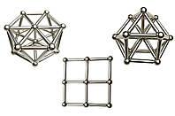 Магнитный конструктор ZOYO золото из палочек и шариков