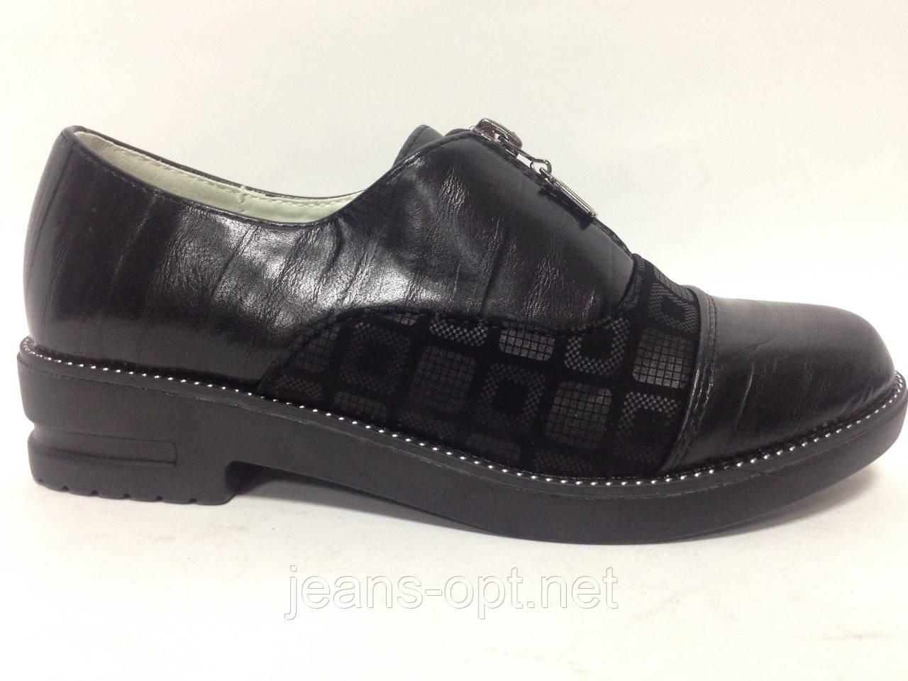 Туфли детские девочка черные  61-08