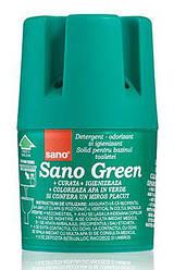 """Sano 150 г. Гигиеническое мыло для бачка унитаза """"Green Flash"""". Контейнер, зеленое"""
