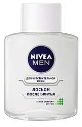 Nivea 100 мл. Лосьон после бритья для чувствительной кожи, для мужчин