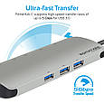 USB-хаб Promate PrimeHub-C Silver, фото 7