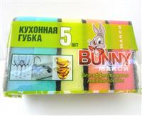 """Bunny 5 шт. Кухонные губки """"Макси"""""""
