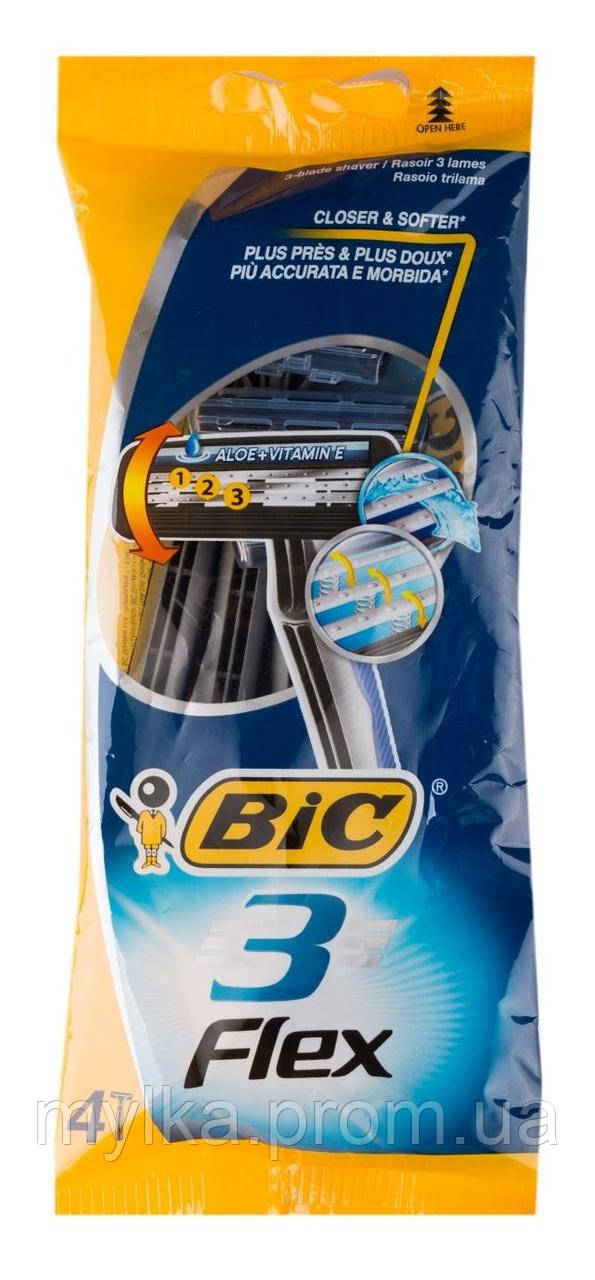 """Bic 4 шт. Трехлезвийные станки для бритья """"Flex 3"""""""