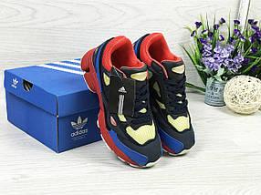 Adidas Raf Simons темно синие с красным