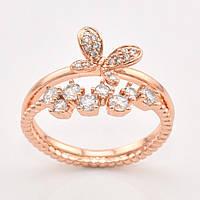 Кольцо ''Бриллиантовый сад'' 10175 размер 20, белые фианиты, позолота РО