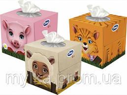 """Zewa 60 шт. Косметические салфетки """" Zoo Cube"""""""