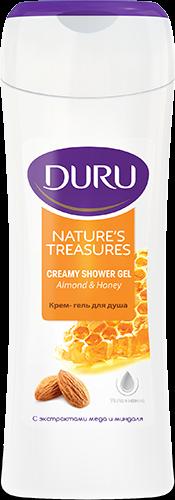 """Duru 250 мл. Крем-гель для душа """"Nature's Treasures. С экстрактом меда и миндаля"""""""