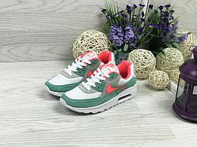 Nike Air Max белые с зеленым